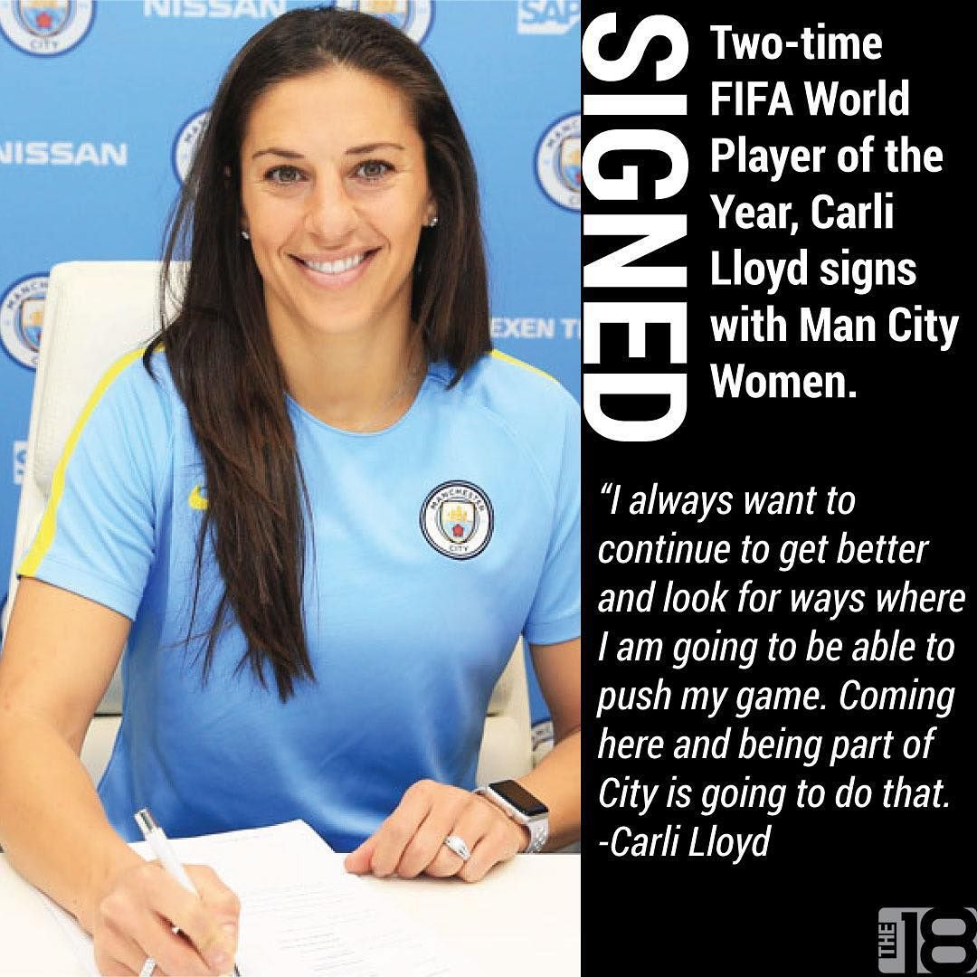 Carli Lloyd Quotes Carli Lloyd Has Joined The The Citizens She Will Return To Play