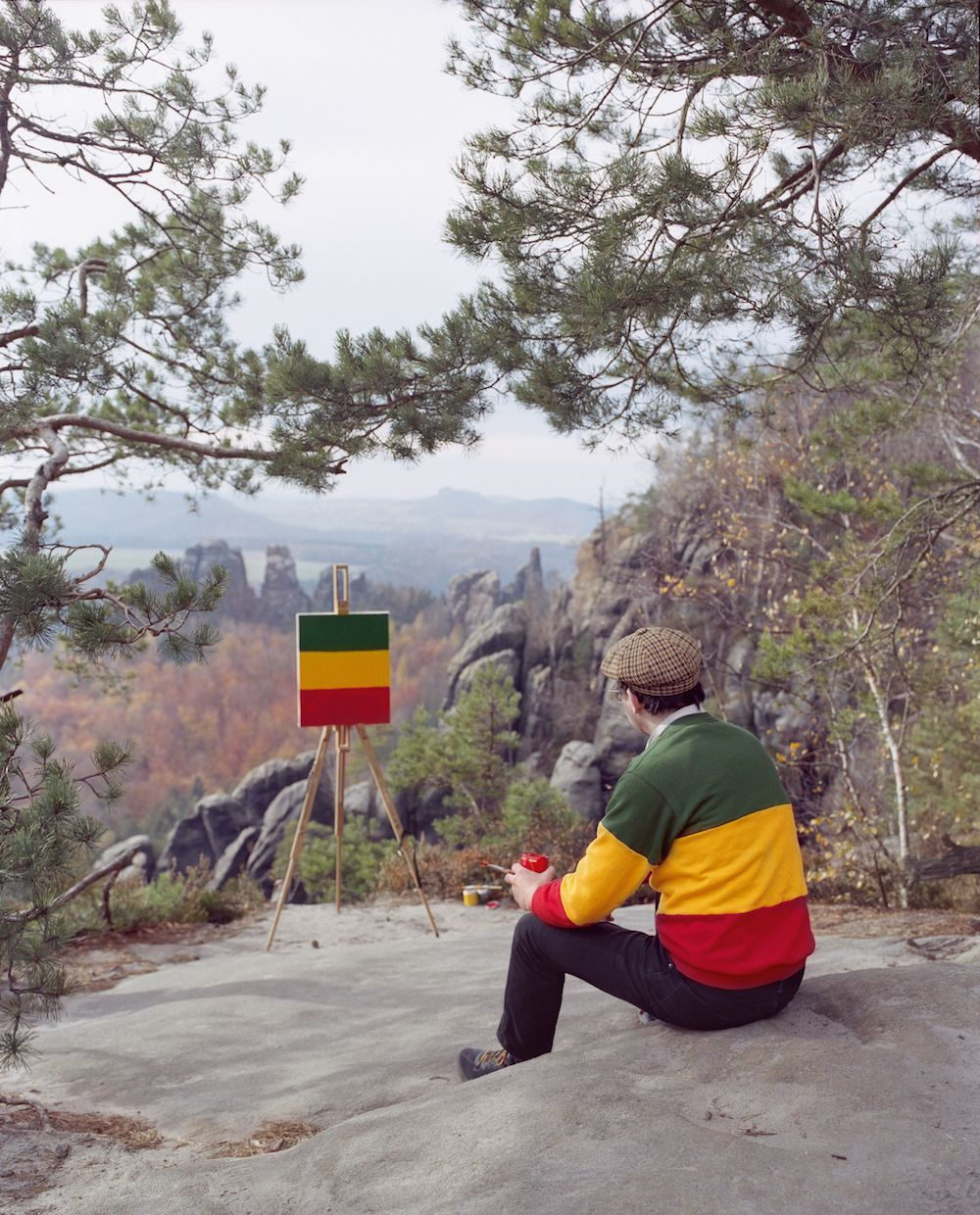 A Collaborative Duo Pokes Fun at Plein Air Painting Through Photographic Series | Colossal