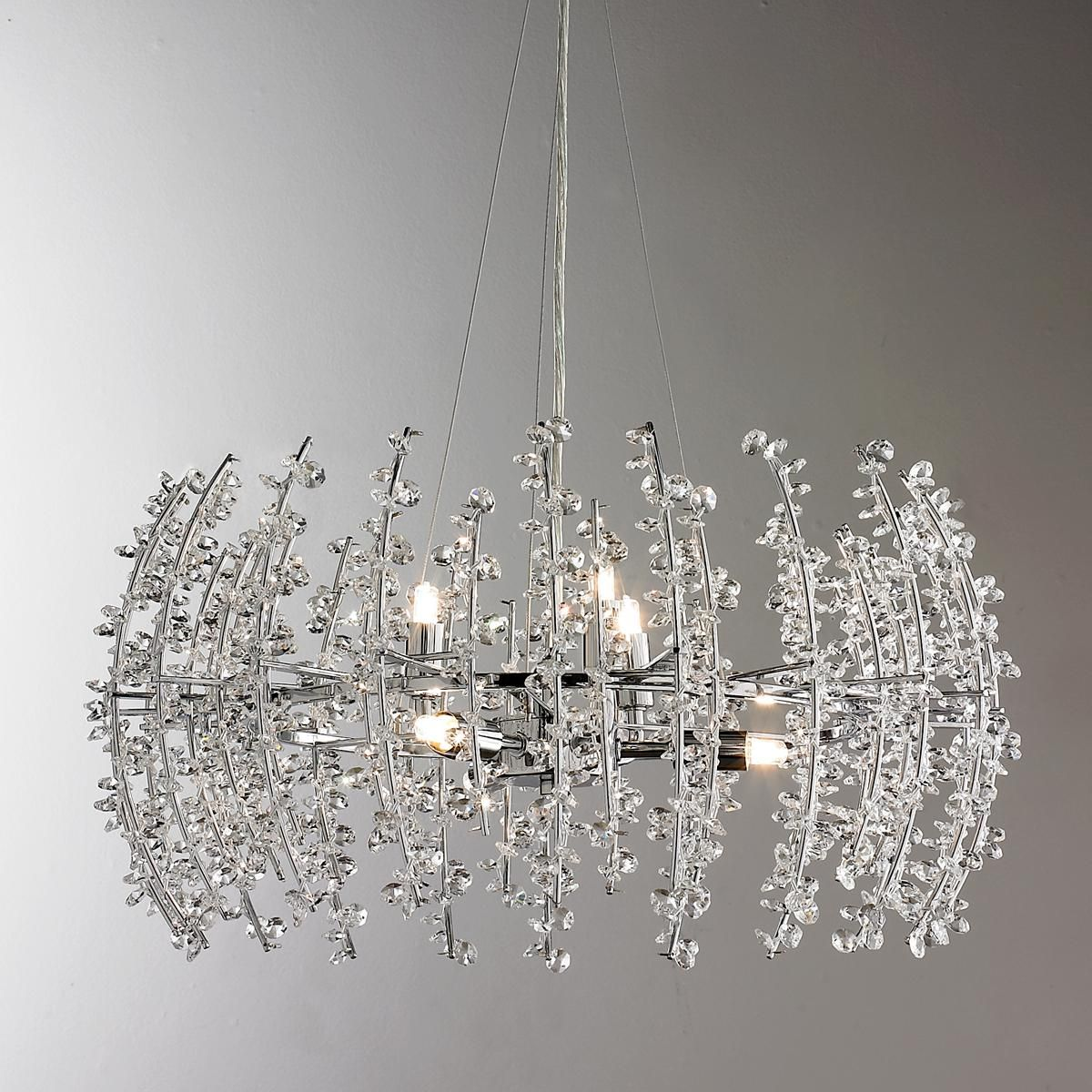 Contempo Crystal Chandelier | Modern crystal chandelier, Crystal chandelier,  Crystal chandelier lighting