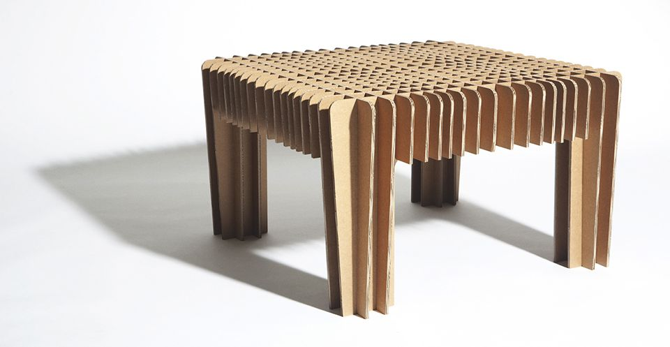 cardboard chair design with legs. David Graas Cardboard Design Coffee Table Chair With Legs A