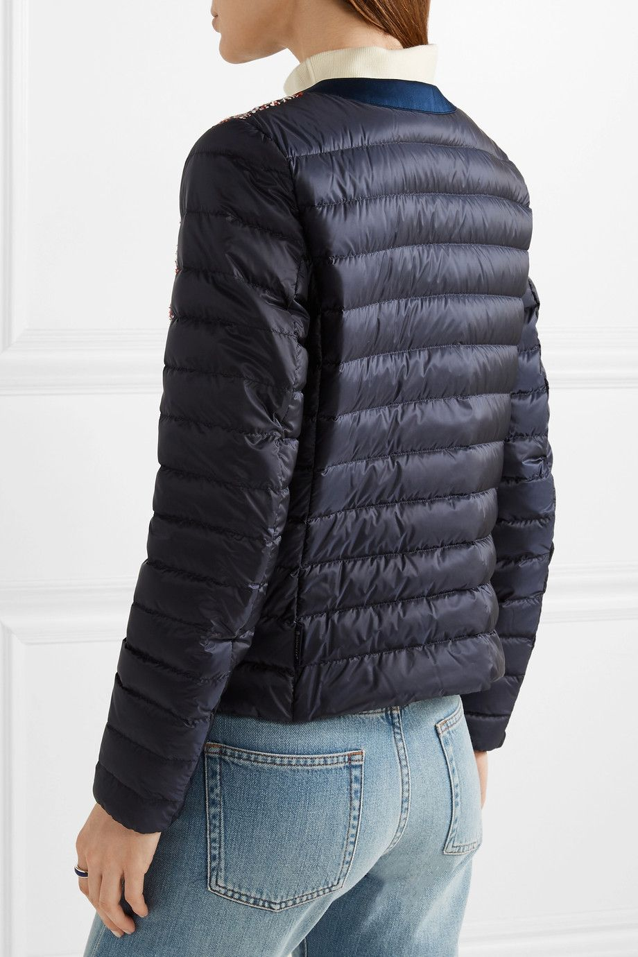 Moncler | Ossau tweed and quilted shell down jacket | NET-A-PORTER.COM
