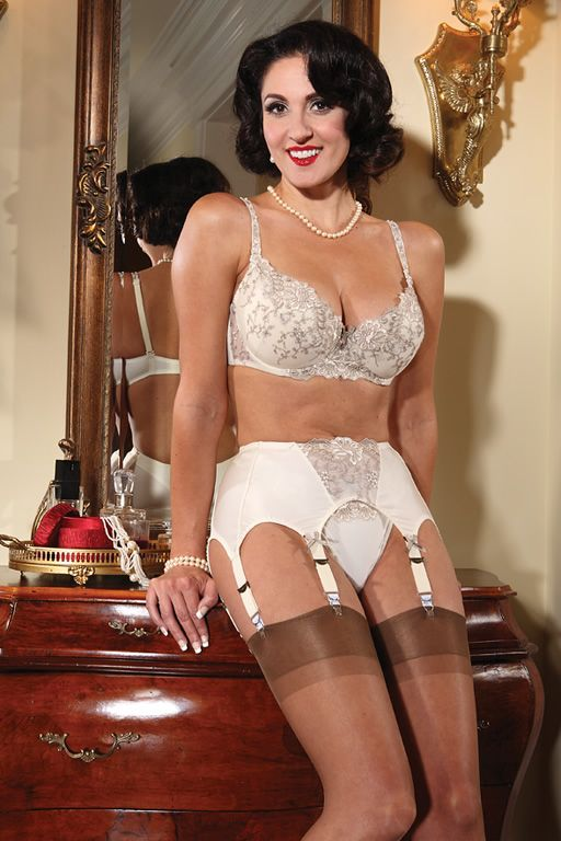 Shione cooper topless in garter belt and stockings