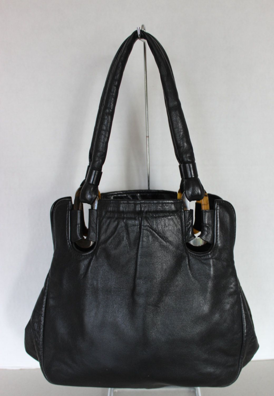 Beautiful Vintage Black Leather Jane Shilton England Handbag Purse by  Calessabay on Etsy cb92806ade846