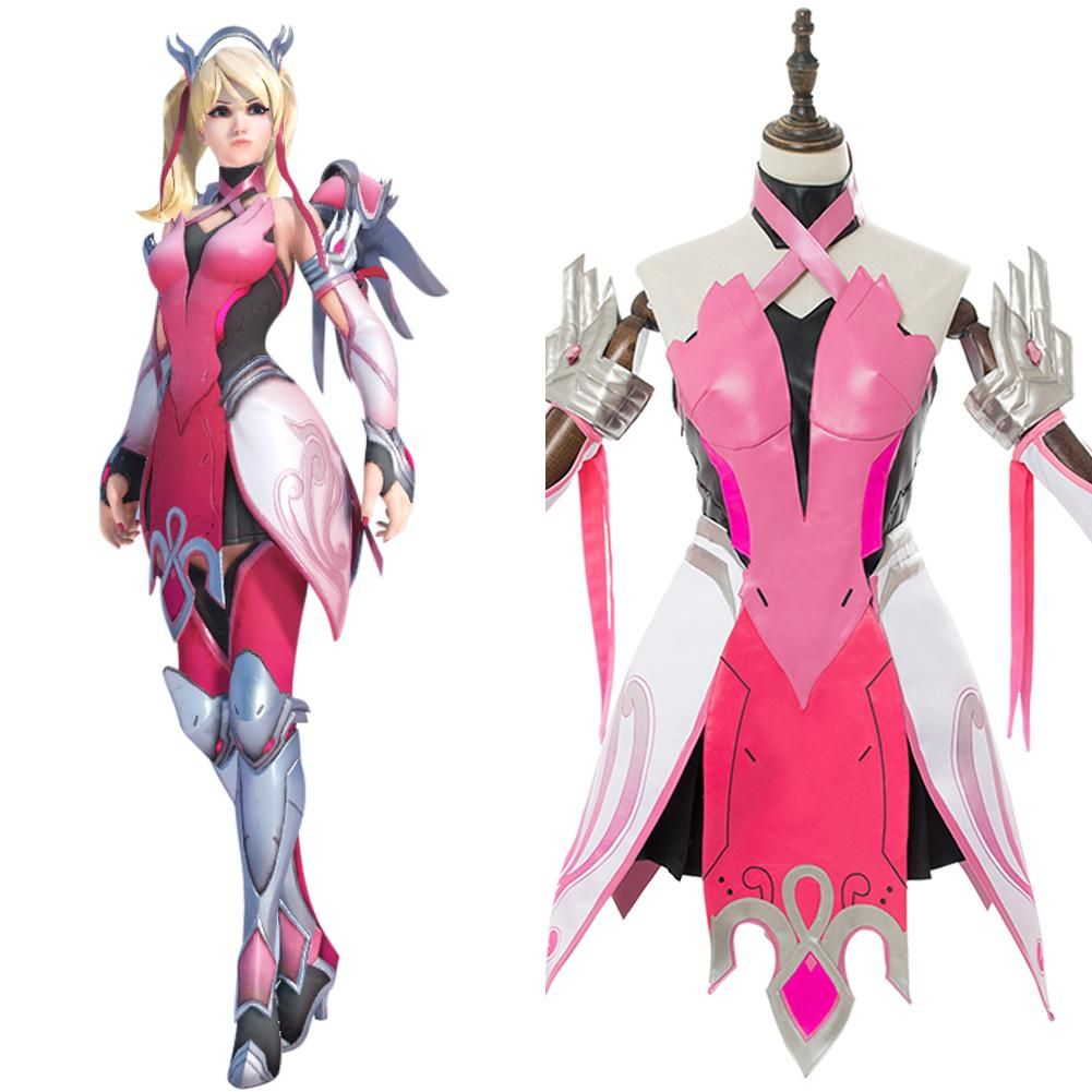 OW Character Mercy Angela Ziegler Cosplay Boots Shoes Custom Made