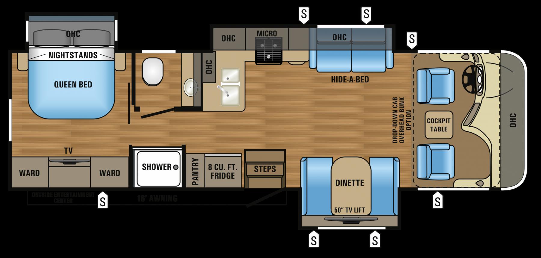 2017 Precept 31UL Floorplan Rv floor plans, Travel