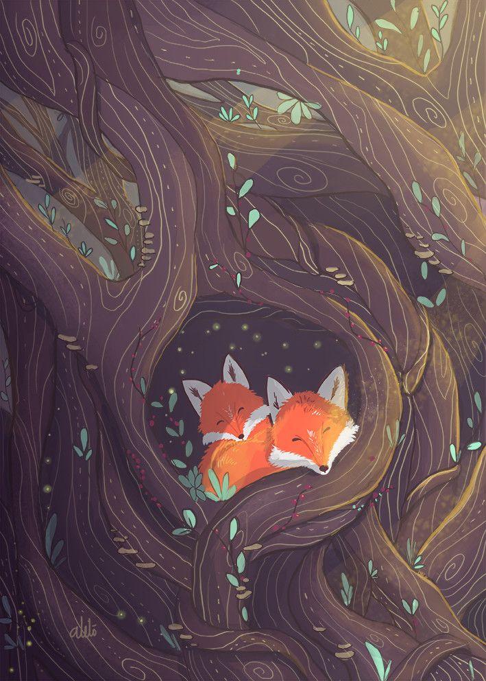 The hope by alel londo o art illustrations fox art fox illustration et fox - Dessin renard ...