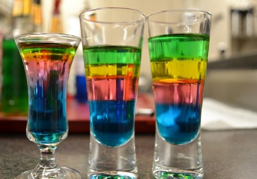 How To Make A Layered Shot. Shots, also called shooters, are alcoholic mixed drinks that typically contain between one to two ounces of liquor. They can be shaken, layered, or simply poured. Layered shots are fun, colourful, and guaranteed to impress your friends or bar patrons.
