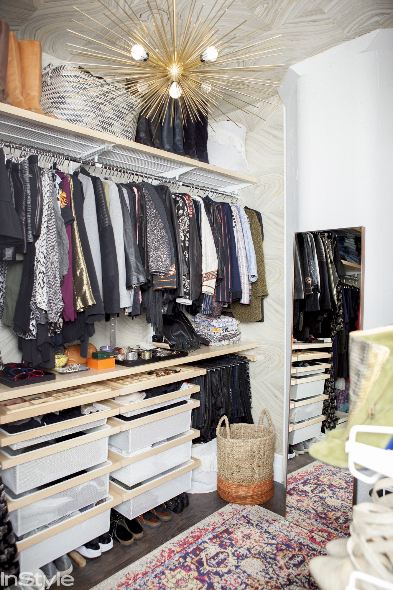 Take A Tour Of Rebecca Minkoffu0027s Stunning Closet In Her Brooklyn Home   The  Closet From InStyle.com