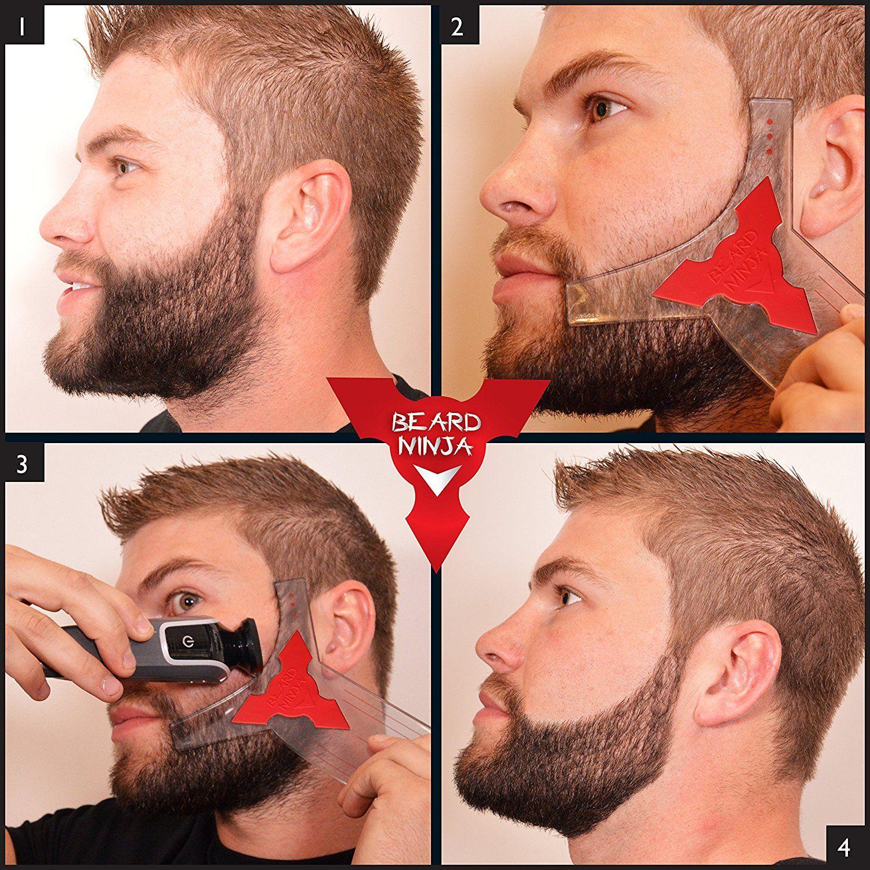 Facial hair stencil