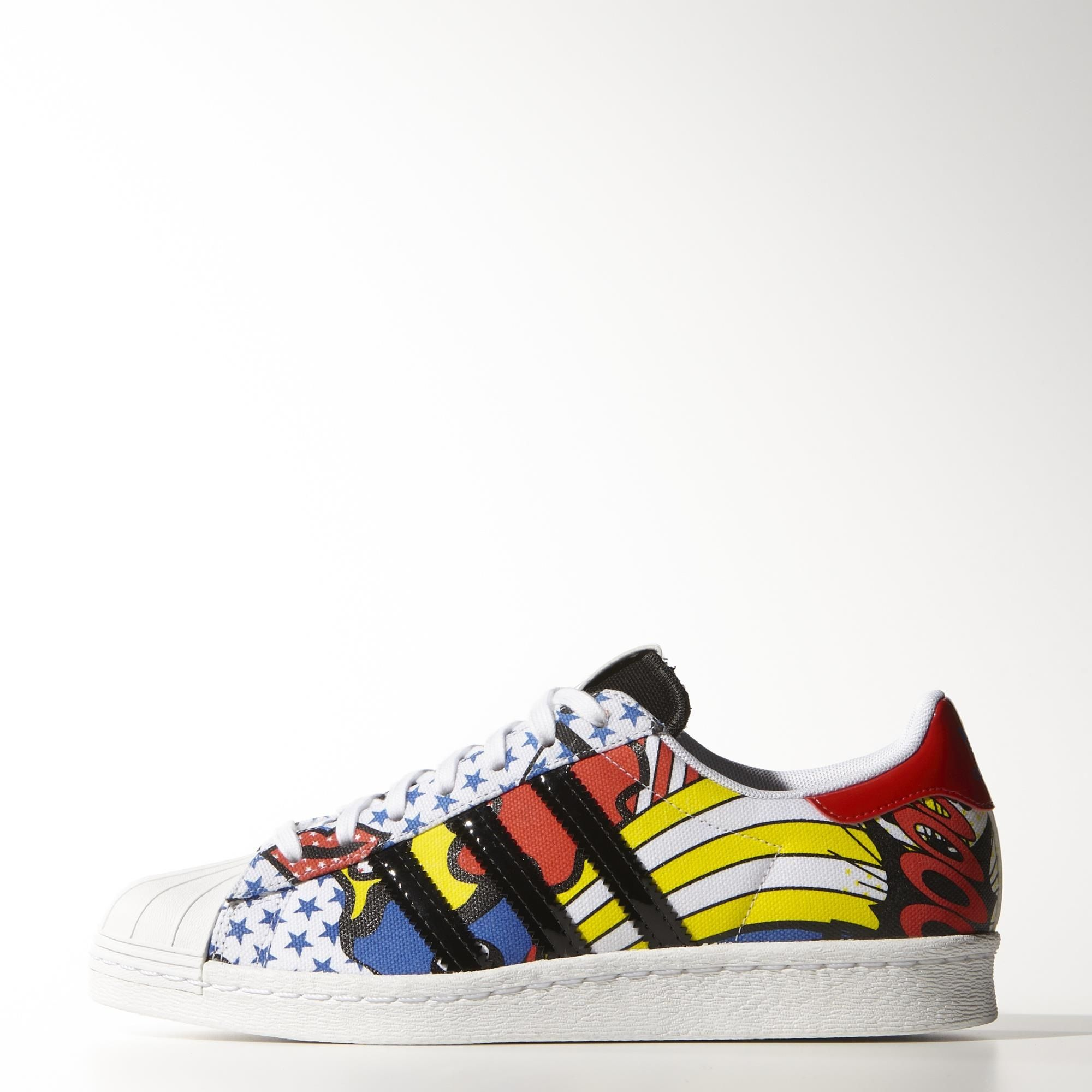 A design collaboration with the British pop star and style icon, these Rita  Ora for adidas Originals Superstar 80s shoes pop off the page with bright  colors ... ec699c628ade