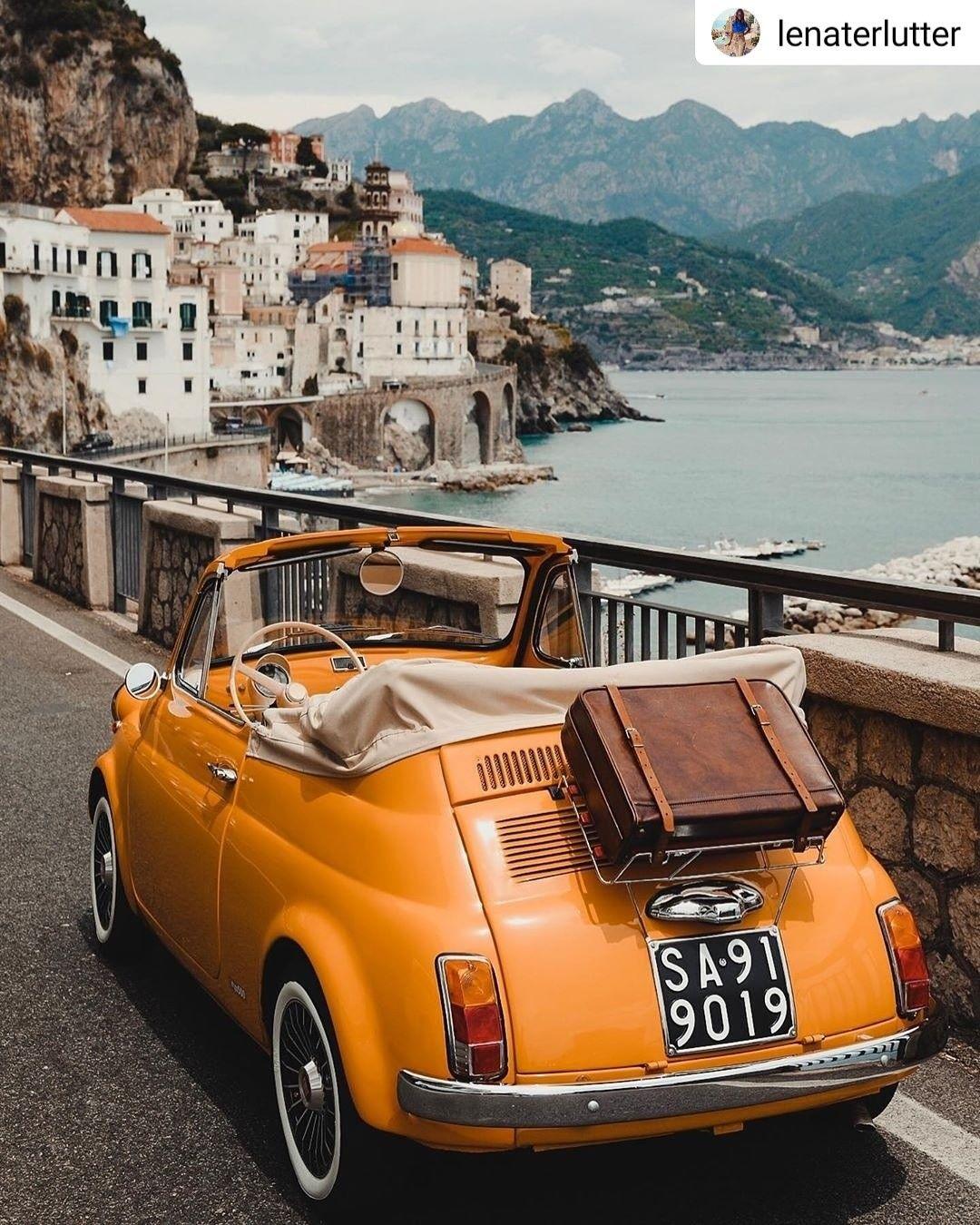 Shooting 📸 Yellow Vintage Fiat 500 Automobile