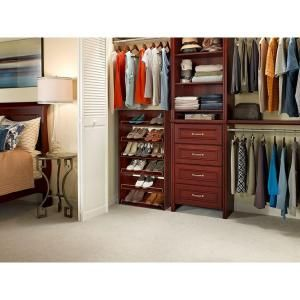 (Two Shown Stacked) Closetmaid Impressions 3 Shelf Shoe Organizer In Dark  Cherry,