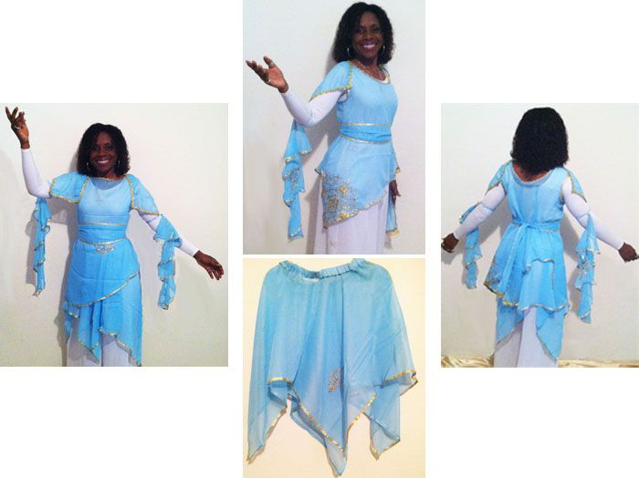 Pastels of Praise Dance Cap Sleeve Overlay Top & Skirt - Click Image to  Close - Pastels Of Praise Dance Cap Sleeve Overlay Top & Skirt - Click