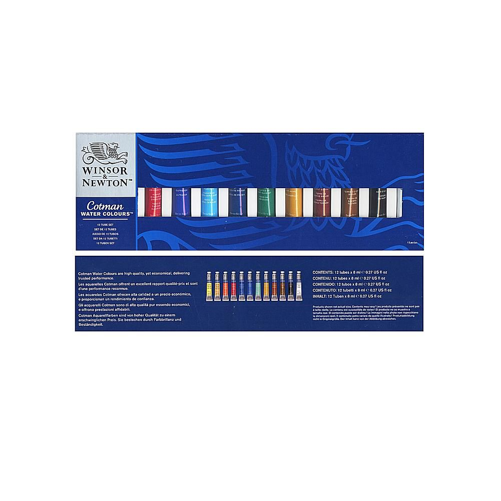 Art Supply Network Winsor And Newton Cotman Watercolor 12 Tube