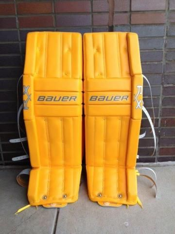 Awesome Set Of All Yellow Bauer Rx10s Order A Custom Set Of Pads At Goalie Totalhockey Com Hockey Pads Hockey Goalie Equipment Goalie Gloves