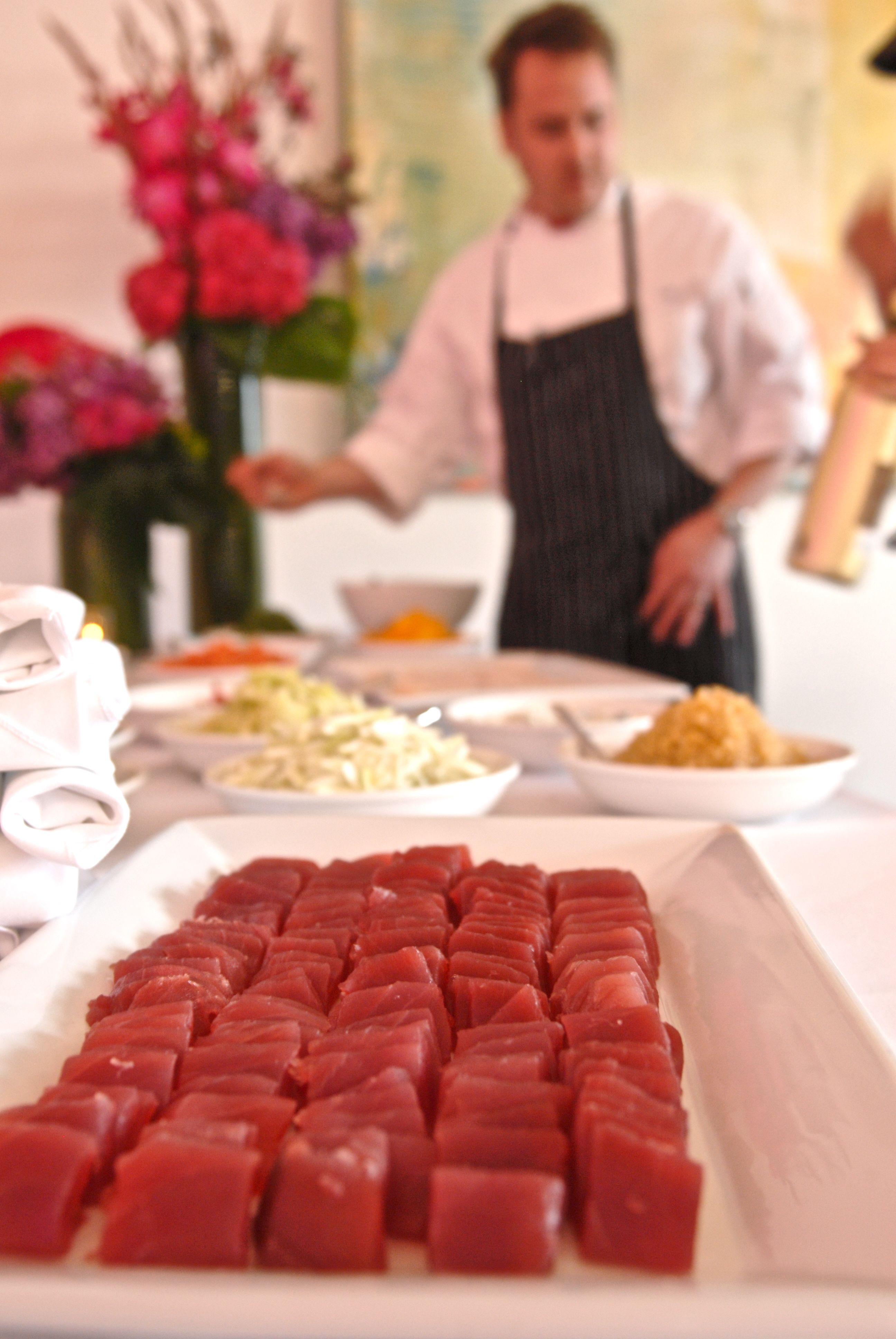 Sliced Tuna For Crudo Station Food Event Catering Premium Food