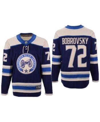 0ac08f29133 Authentic Nhl Apparel Men's Sergei Bobrovsky Columbus Blue Jackets  Breakaway Player Jersey - Blue S