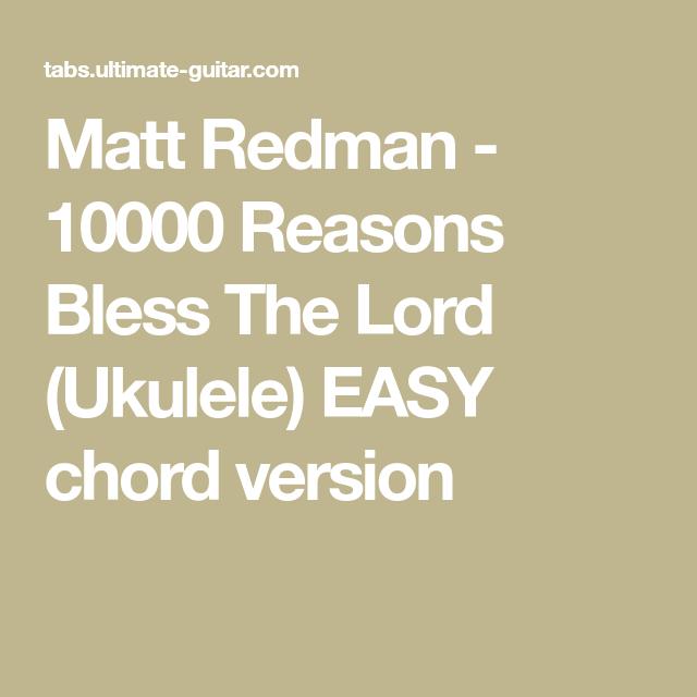 Matt Redman - 10000 Reasons Bless The Lord (Ukulele) EASY chord ...
