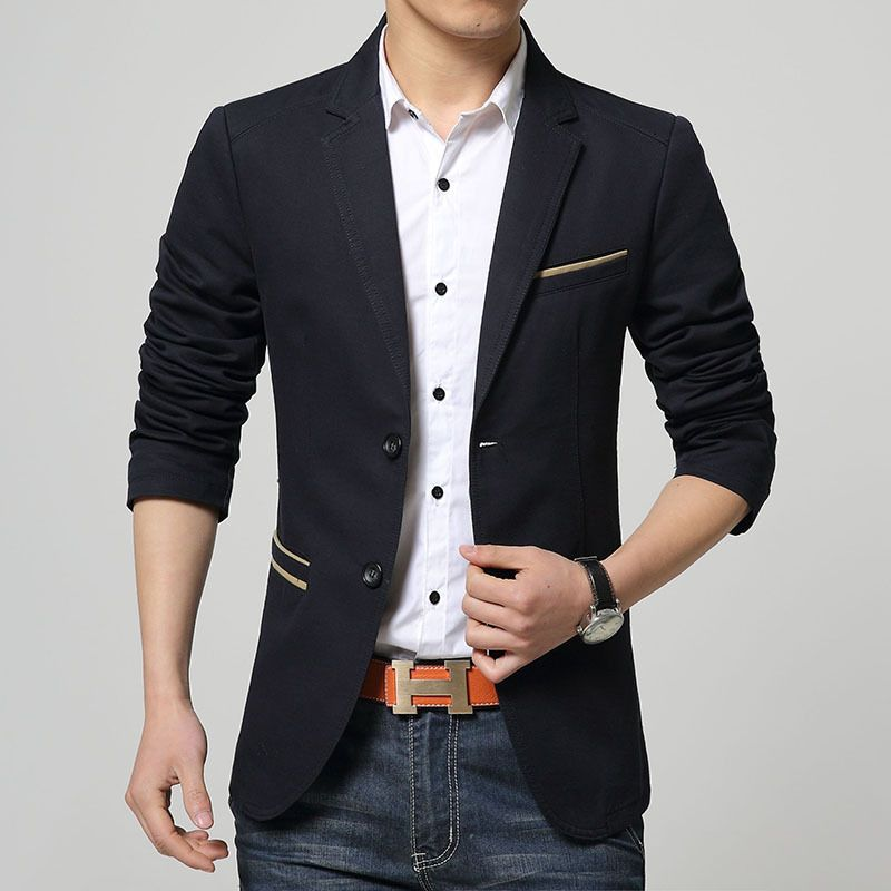 212cc8ad898 2015 New Arrival Terno Fashion Men Blazer Slim Fit Solid Single Button  Modern Suits Korean Style Casual Men Suit Jacket XXXL G9