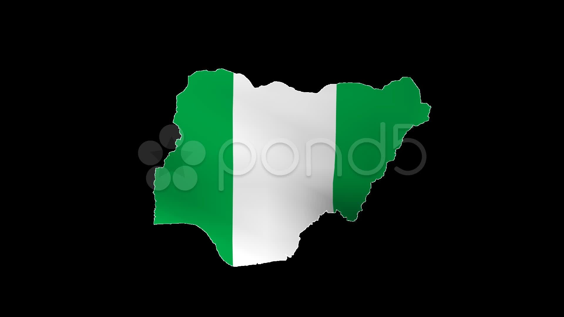 Nigeria Map Flag With Alpha Channel Stock Footage Ad Flag Map Nigeria Alpha Map Of Nigeria Alpha Channel Map