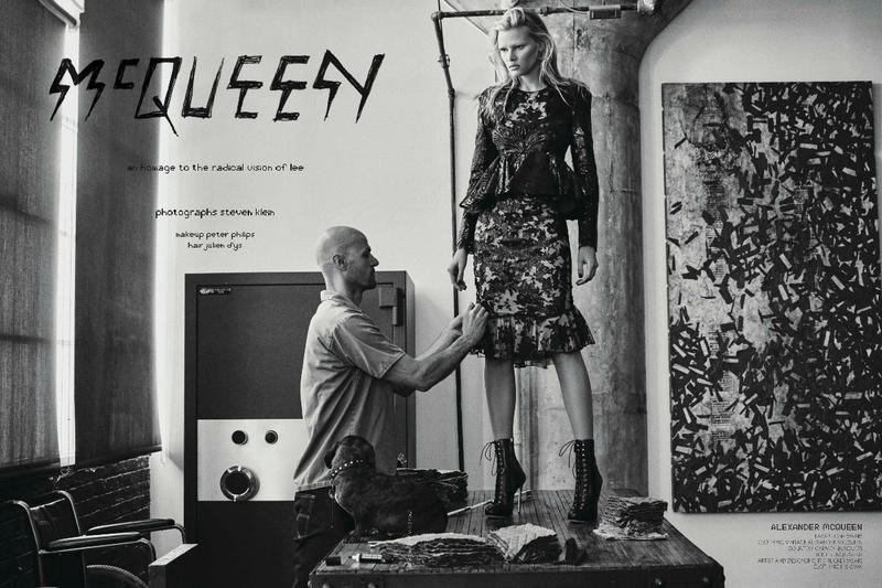 Lara Stone Looks Angelic on Homepage of CR Fashion Book