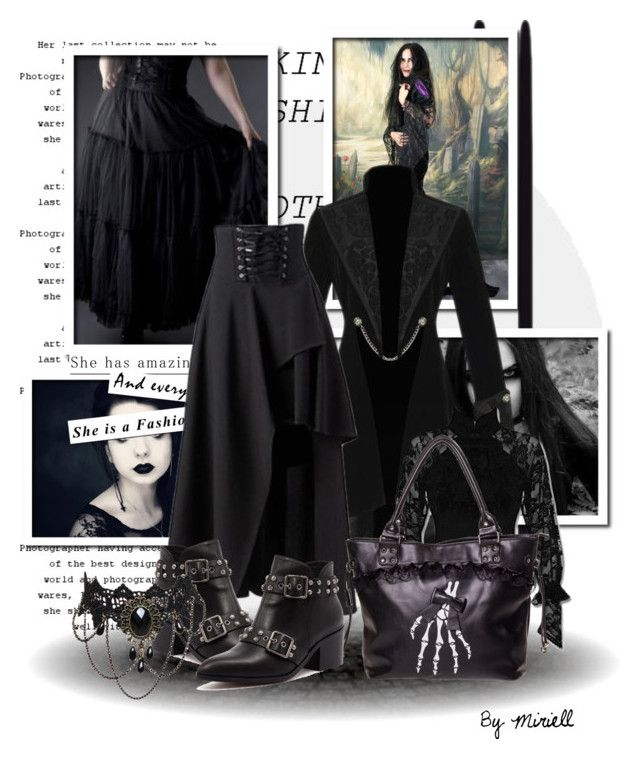 """How to wear goth maxi skirts"" by beverlyridgway ❤ liked on Polyvore featuring Alias Mae"
