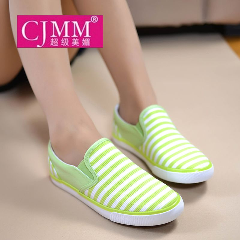 Spring flat shoes lazy shallow mouth breathable canvas shoes female student casual shoes cloth shoes US $8.60