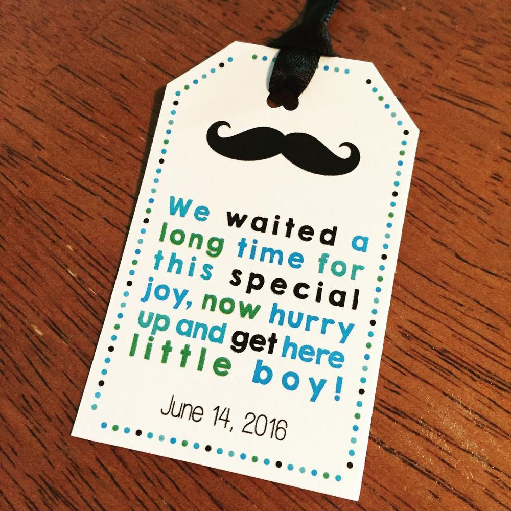 10 piece little boy mustache favor tag w ribbon party accessories