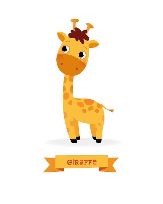 Imprimir jirafa guarder a animal safari animal por - Dessin girafe simple ...