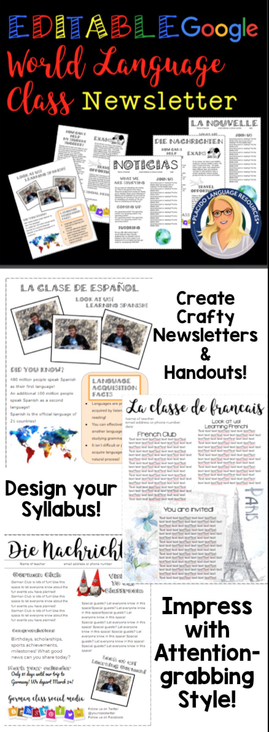 c1549c3a6ce9fb1849bd49d19e4c4a51 Newsletter Templates Free Spanish Cl on