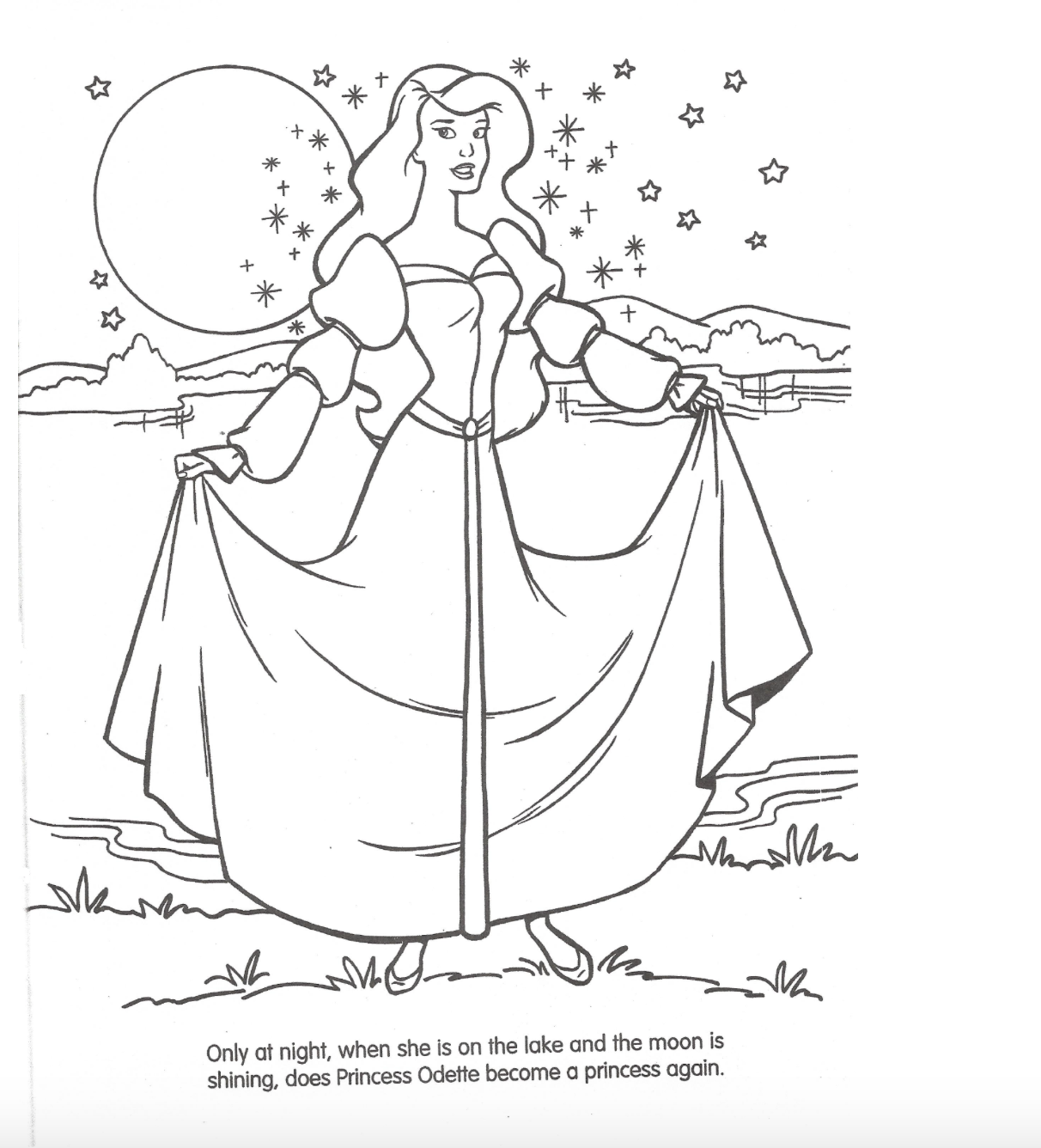 Odette The Swan Princess Coloring Page Odette The Swan Princess