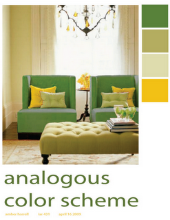 This Room Is Analogous Because It Uses Hues That Are Next To Each Other On The Color Interior Design Classes Complimentary Color Scheme Interior Color Schemes