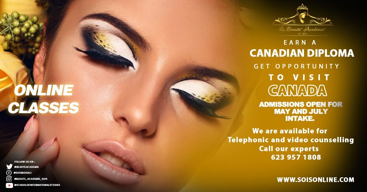 Admissions Open For International Makeup Artist May And July 2020 Intake In 2020 International Makeup Artist Canadian Makeup Artistry Makeup