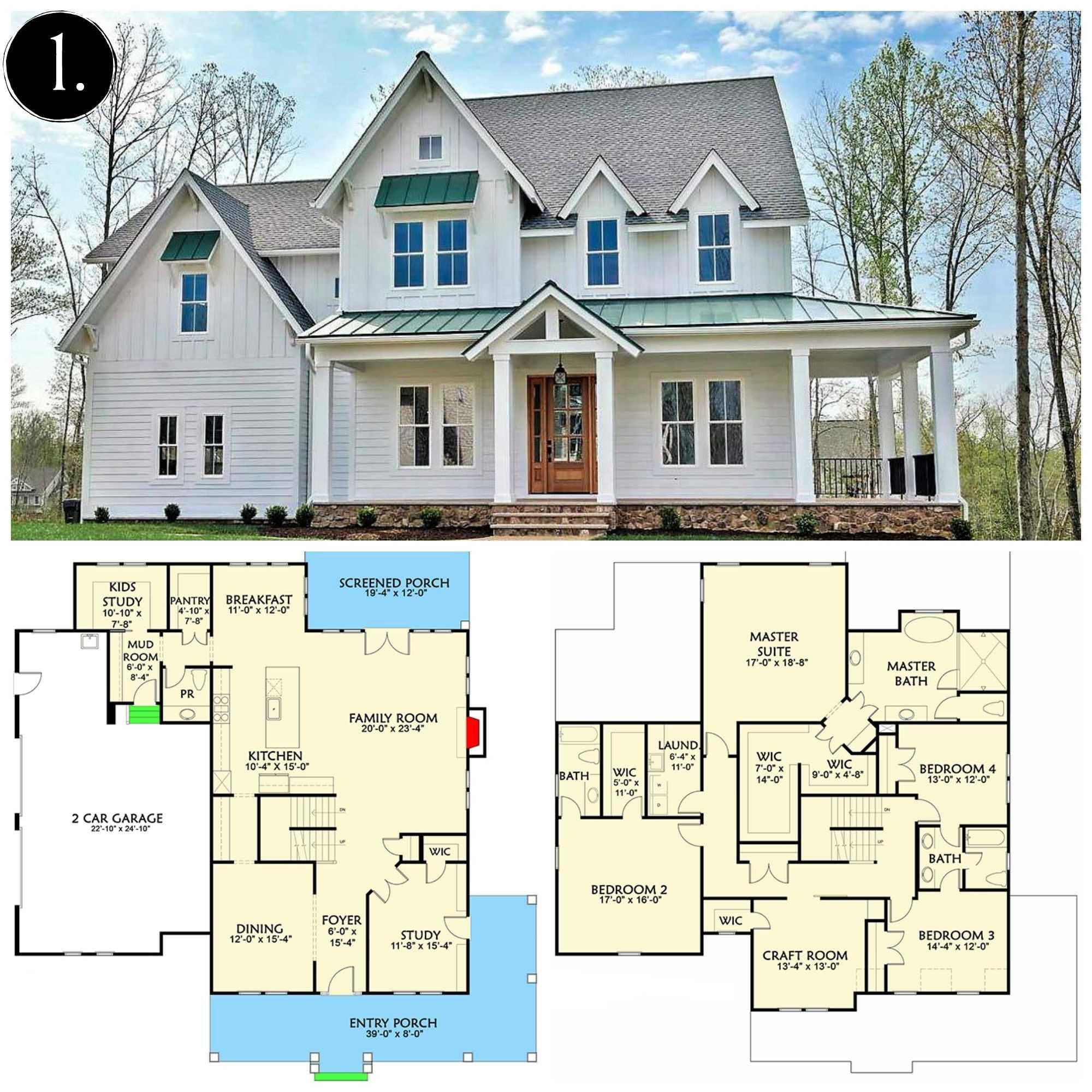 Open Concept Wrap Around Porch Farmhouse Plans Lovely Open Concept Wrap Around Porch F Farmhouse Floor Plans House Plans Farmhouse Modern Farmhouse Floorplan