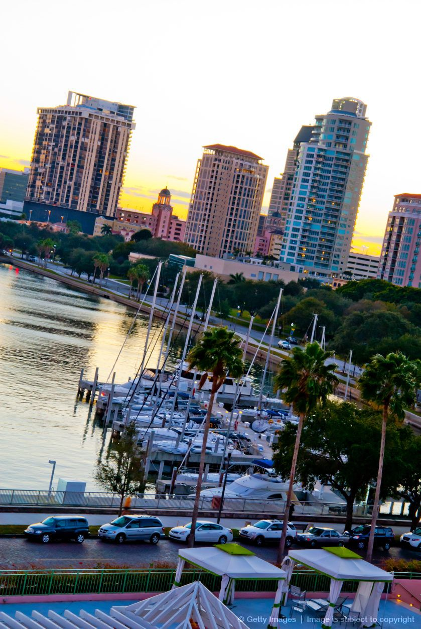 St Petersburg Nood: Downtown St. Petersburg, Florida. View From The Vinoy