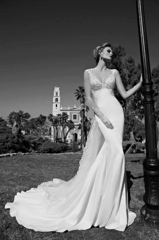 Vestido de noiva sheer lace long sleeves mermaid wedding dresses v