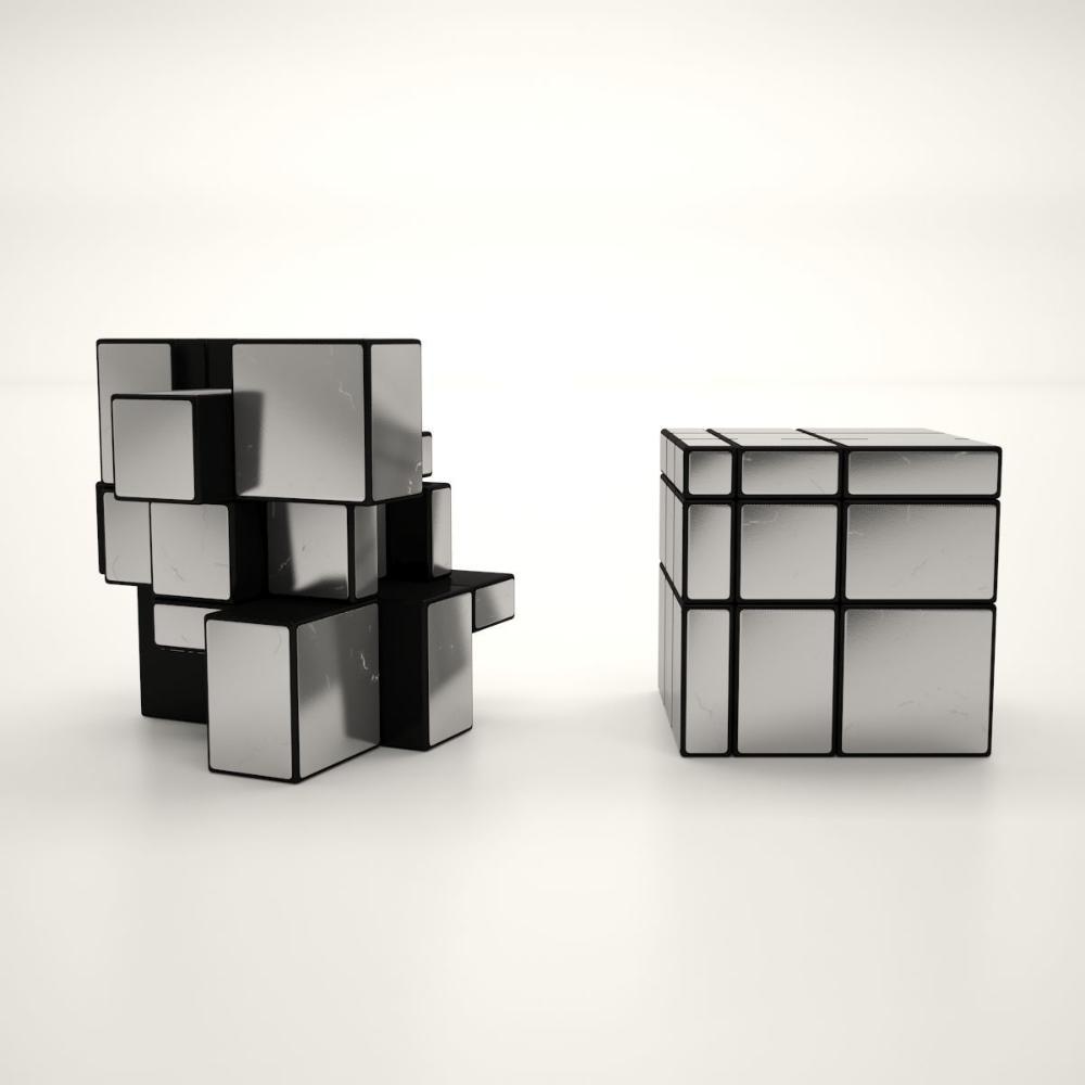 3d Asset Game Ready Rubik Cube Mirror Cgtrader Cagatay Cetin Rubiks Cube Cube 3d Model