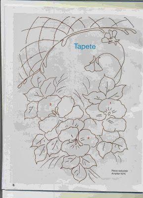 Tatitando Arte: Riscos para Pintura em tecidoflôres