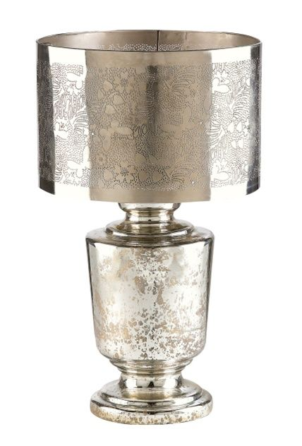 retail therapy silver mercury glass table lamp interior lighting options - Mercury Glass Table Lamp