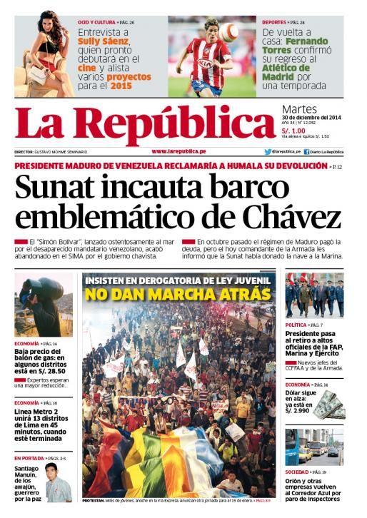 La República Lima 30-12-2014