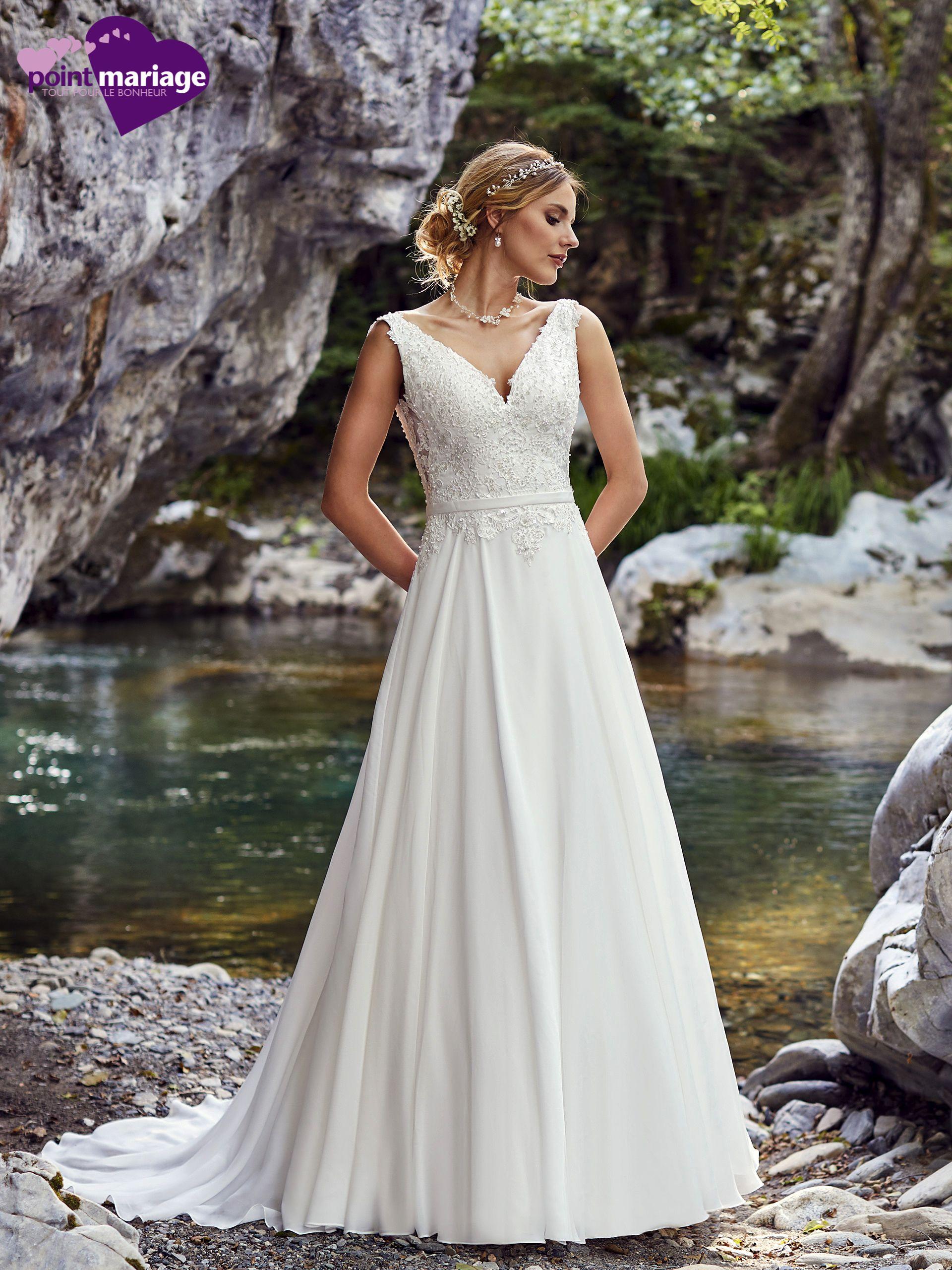 Robe de mariée Palerme, robe de mariée fluide