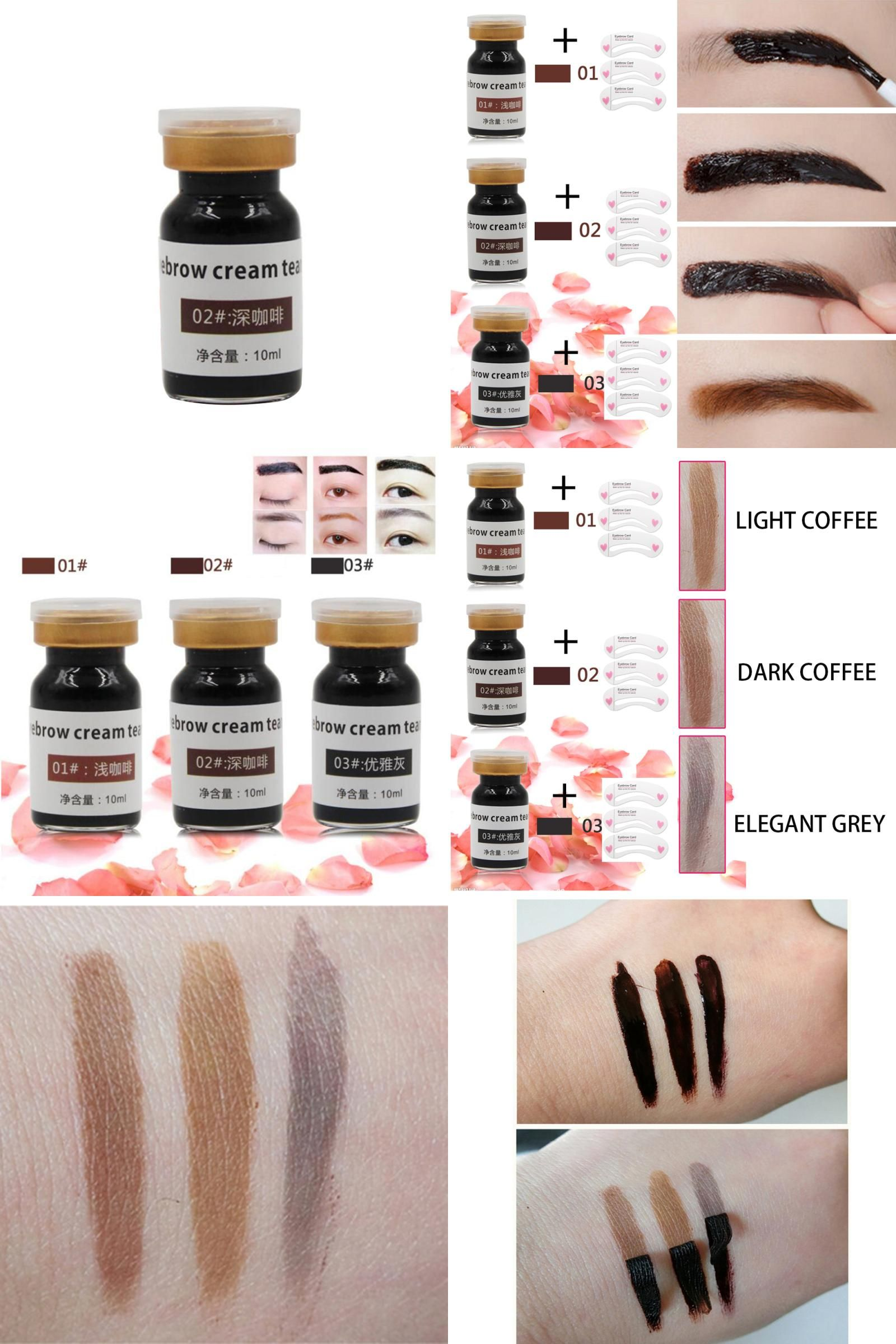 [Visit to Buy] 1 PC Waterproof Peel Off Eyebrow Gel Tint