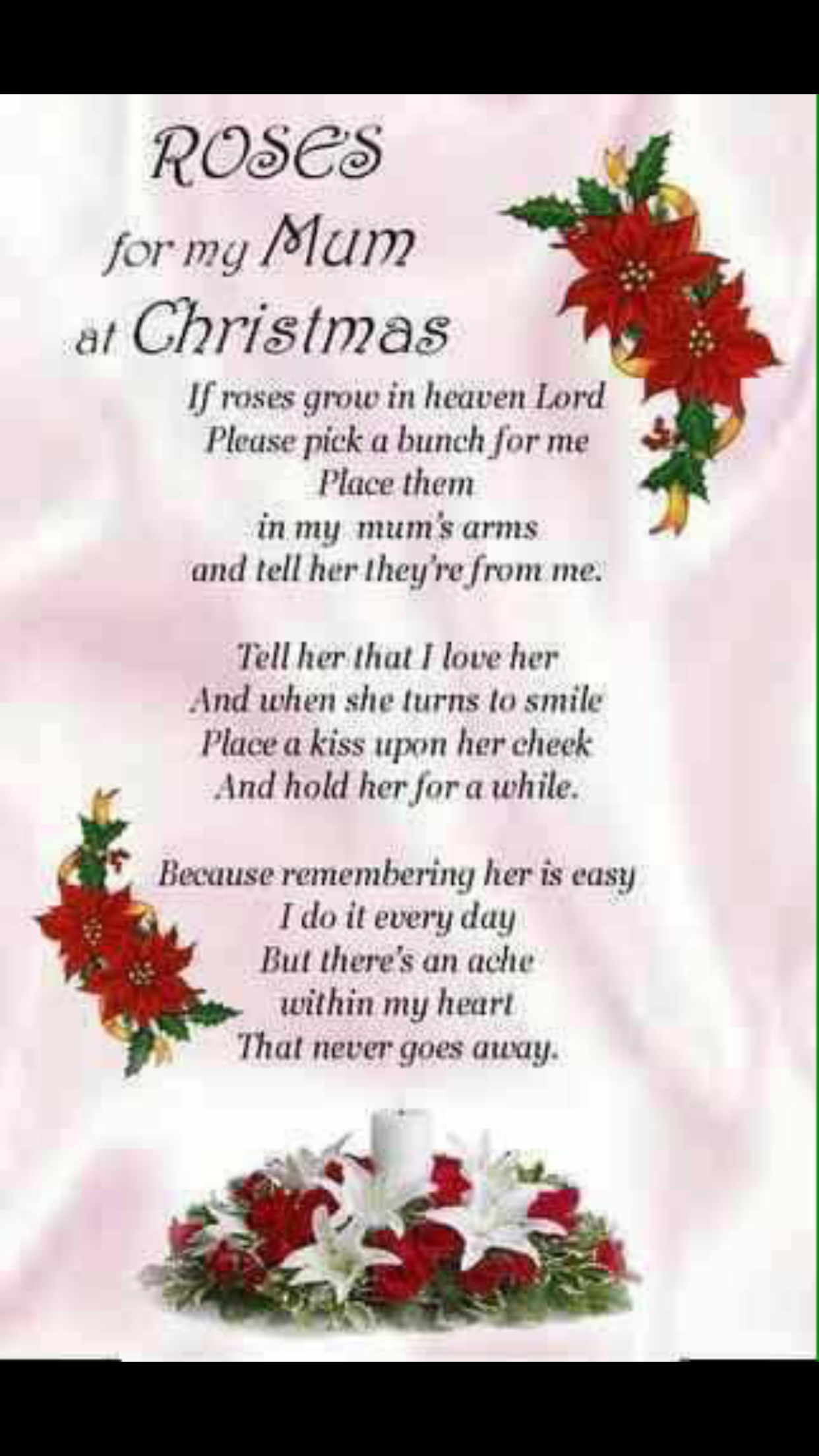 Merry Christmas In Heaven Mom Miss You Love You Always Xo