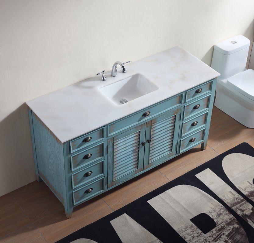 Gerrell 60 Single Bathroom Vanity Set Single Bathroom Vanity