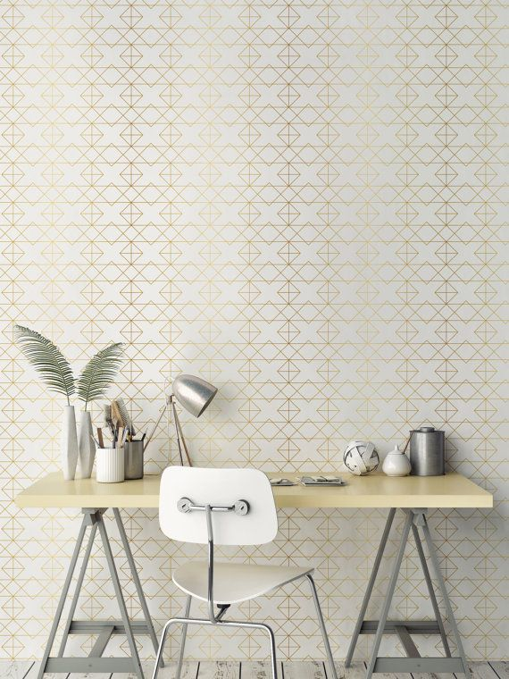Geometric Solid Gold Wallpaper Removable Wallpaper Etsy Geometric Solids Gold Wallpaper Gold Temporary Wallpaper