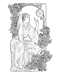 art nouveau adult colouring - Star Wars Coloring Pages For Adults