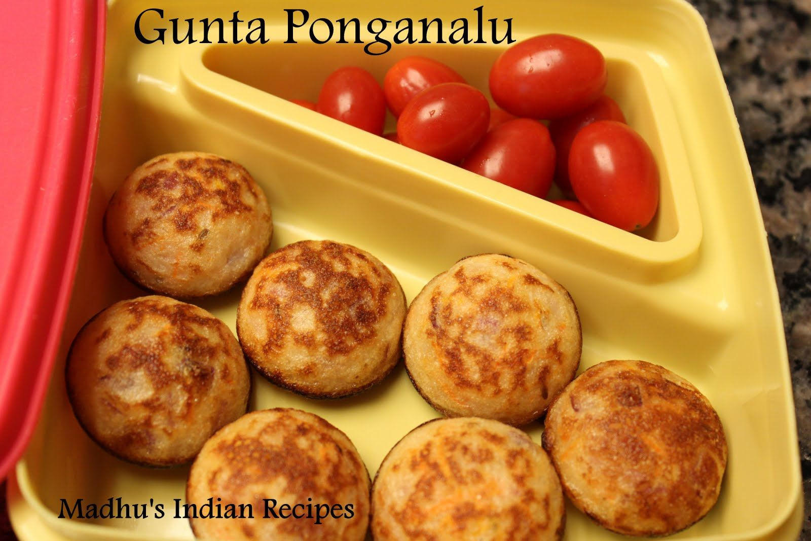 Madhus Everyday Indian Lunch Box Idea Kid Friendly Recipe Gunta Ponganalu