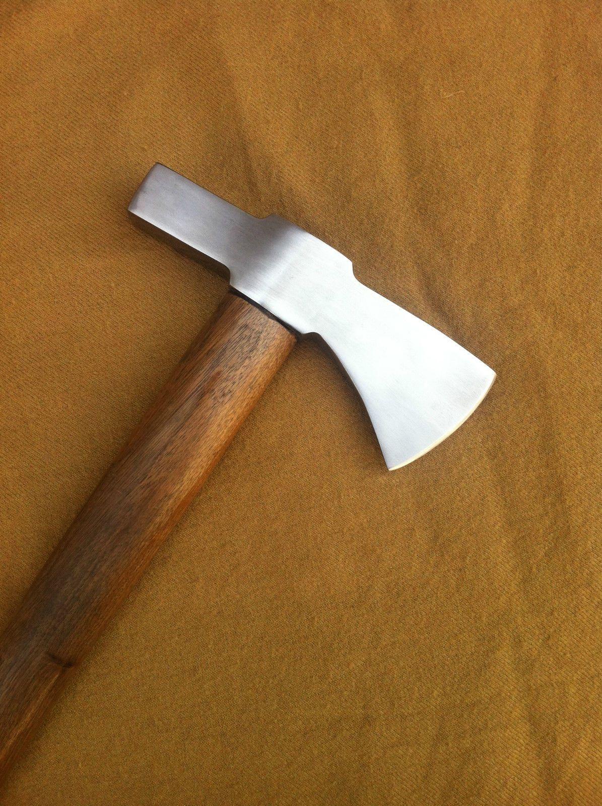 Hand forged 5160 spring steel steel  bearded  tomahawk axe