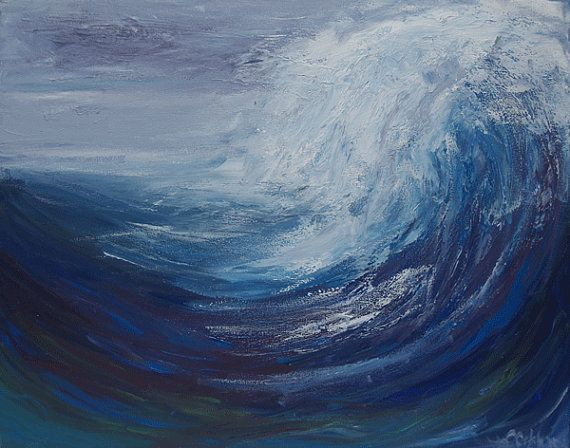 Abstract Ocean Wave Painting Acrylic Painting Original Ocean Landscape Painting Contemporar Watercolor Paintings Nature Acrylic Painting Images Wave Painting
