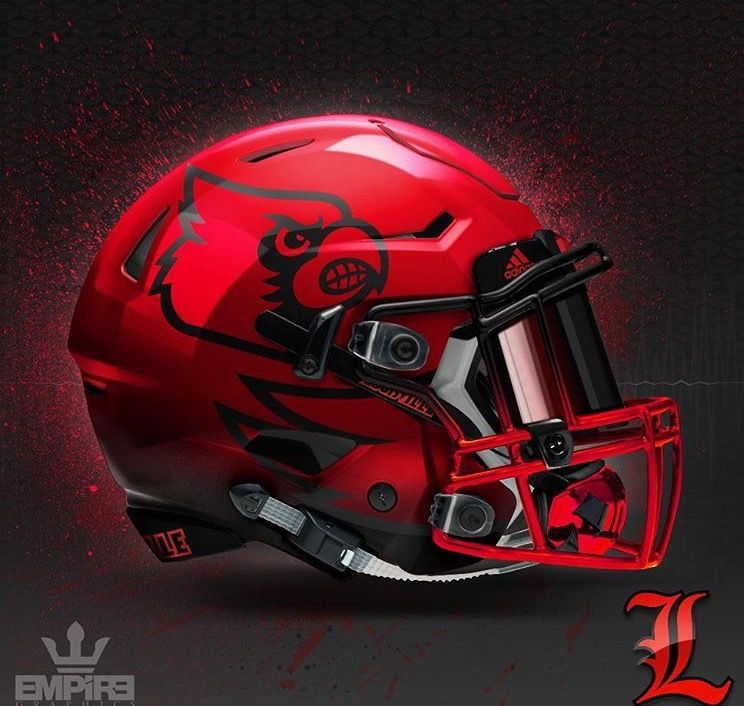 34f5500e058 University of Louisville Cardinals Custom design NCAA football helmet